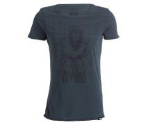 T-Shirt mit Superhelden-Details - blaugrau