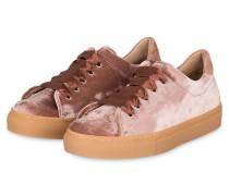 Plateau-Sneaker aus Samt - altrosa
