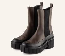 Chelsea-Boots - SCHWARZ/ KHAKI