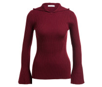 Pullover mit Kapuze - bordeaux