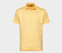 Luxuriöses Jersey Poloshirt hellgelb
