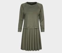 T-Shirt Kleid mit Faltenrock