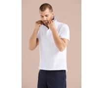 Poloshirt mit Kragenprint und Maske