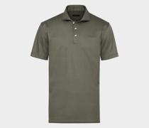 Luxuriöses Jersey-Poloshirt khaki-
