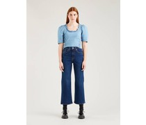 High Waisted 7/8 Flare Jeans
