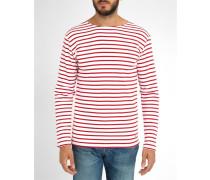 Gestreiftes T-Shirt 2297 Rot und Weiß