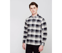 Sunset 1 Pocket Shirt White Check