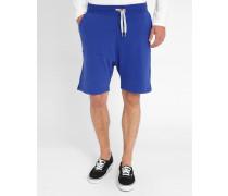 Blaue Molton-Shorts in Blau