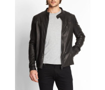 7337 Sheep Leather Jacket With ChestCut