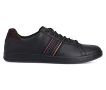 Schwarze Leder-Sneaker Rabbit