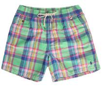 Madras Green Swim Shorts