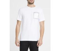 T-Shirt Push The Past Weiß