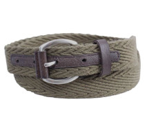 Gürtel webbing and leather