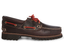 Brown Authentic 3 Eye Leather Boat Shoes