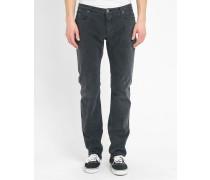 Slim-Jeans in schwarzer Waschung aus Elastan