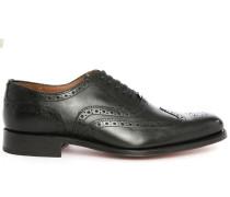 Schwarze Richelieu-Schuhe Angus mit Rosette