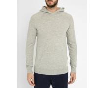 Grau melierter Pullover Hooded