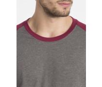 Grau meliertes und bordeauxrotes T-Shirt ML Louis