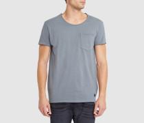 Graues T-Shirt mit Rundhalsausschnitt und Tasche Bradley