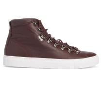 Sneaker Marostico Mid aus bordeauxrotem Leder