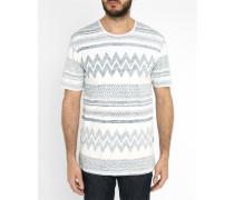 Blaues T-Shirt mit Rundhalsausschnitt und Motiv Tatipu
