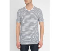 Weißes T-Shirt mit blauen Streifen Oxley