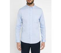 Blaues Oxford-Hemd