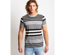 Mixed Striped T-Shirt Black