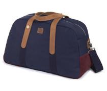 Marineblau-bordeauxrote Tasche 48H aus Stoff und Wildleder