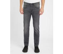 Jeans Tapered ED-55 in ausgewaschenem Grau
