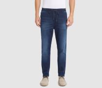 Chino-Jogg-Jeans in ausgewaschenem Blau