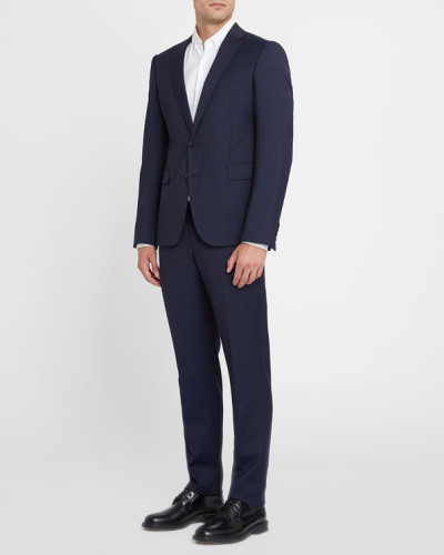 giorgio armani herren kaviarblauer anzug drop 8 reduziert. Black Bedroom Furniture Sets. Home Design Ideas