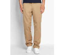 Beige Chino-Hose Relaxed Tapered Fit Master Denison