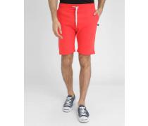 Grellrote Molton-Shorts