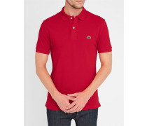 Rotes kurzärmeliges Poloshirt mit -Logo