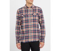 Westernhemd Check in Rot und Marineblau