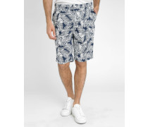 Blaue Shorts Palm All Over