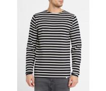 Langärmeliges marineblaues Matrosen-Shirt aus Baumwolle Godtfred