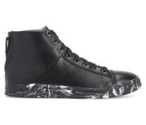 Schwarze Sneaker mit bunter Sohle S Emerald