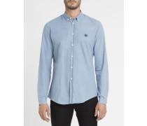 Ausgewaschen hellblaues Denim-Hemd
