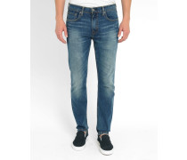 Skinny-Jeans 512 Tapered in Hellblau Stone Washed