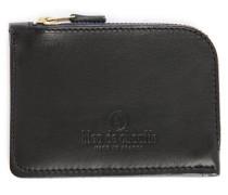 Schwarzes Portemonnaie mit Reißverschluss aus Leder As