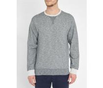Graumeliertes Sweatshirt mit Rundhalsausschnitt National