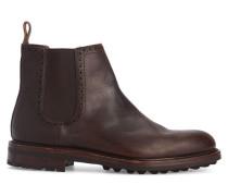 Chelsea Boots Commando Sole aus braunem Leder
