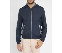 Marineblaue Jacke mit großem Kragen