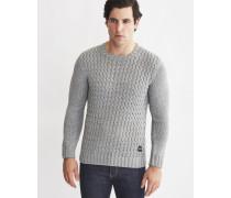 Mens Knitted Jumper Grey