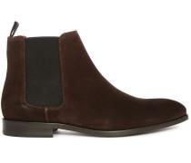 Braune Chelsea Boots Gerald aus Veloursleder