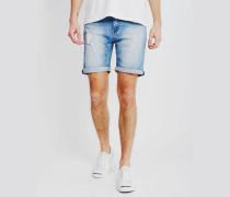 High Cut Future Denim Shorts Blue