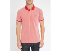 Oxford-Poloshirt aus rotem Piqué
