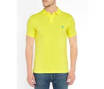 Slim-Poloshirt Sheer Lemon